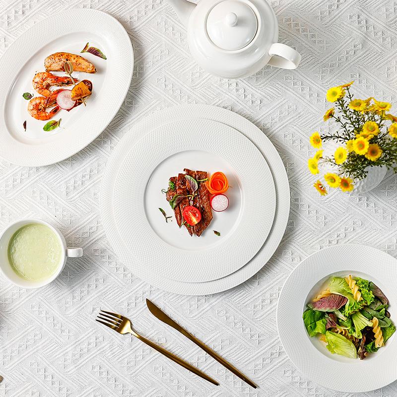 Grid Series - White Dinnerware
