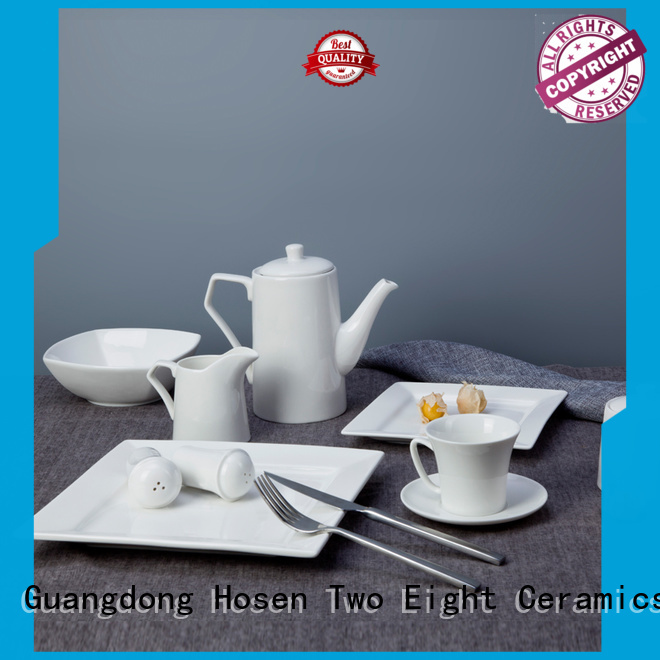 french style cheap white porcelain dinnerware customized for hotel Two Eight