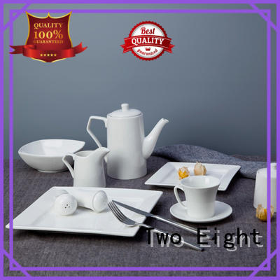 Two Eight stock high quality porcelain dinnerware directly sale for bistro