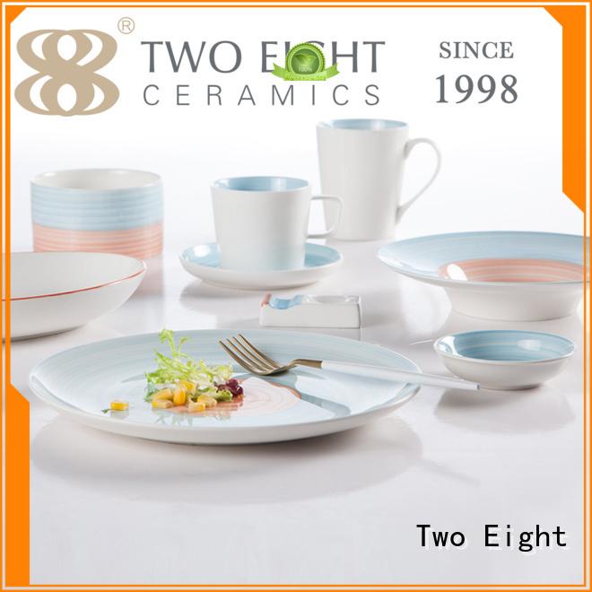 square black italian porcelain 16 piece porcelain dinner set Two Eight Brand