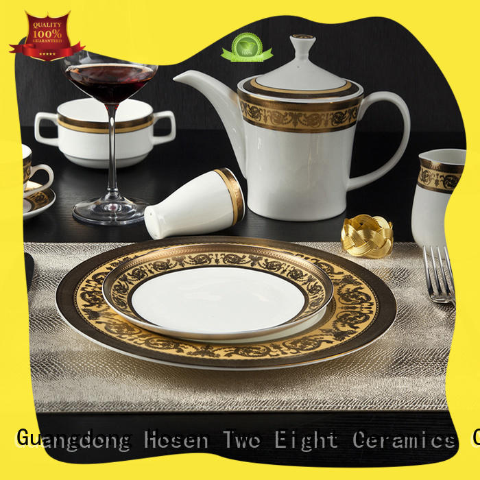 Two Eight contemporary restaurant china dinnerware factory price for home