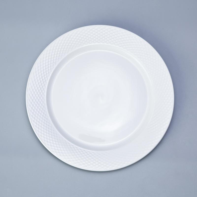 bulk everyday white porcelain dinnerware rim for hotel Two Eight-3