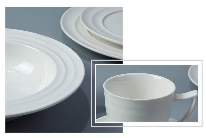 Two Eight German style classic white dinnerware sets series for dinner-1