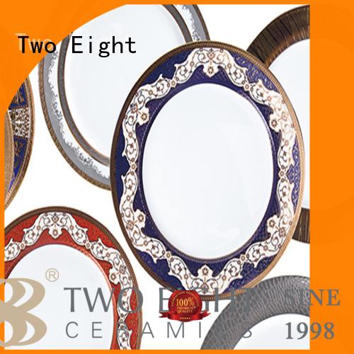 gloden white dinnerware teahouse fine white porcelain dinnerware Two Eight Brand