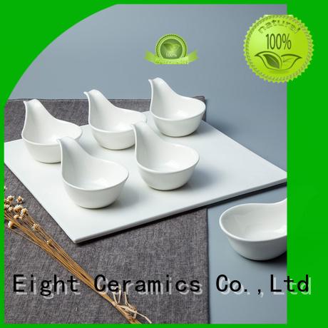 Two Eight Vietnamese plain white porcelain tea cups factory for restaurant