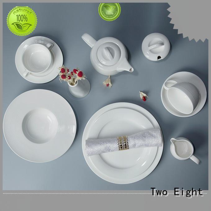 rim restaurant grade dinnerware customized for home Two Eight