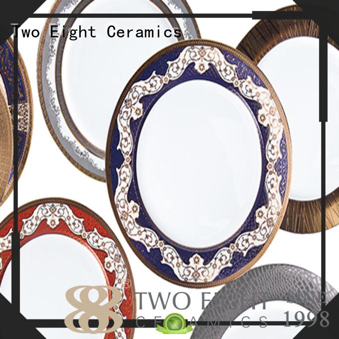 Quality Two Eight Brand fine white porcelain dinnerware dinnerware round