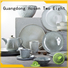 16 piece porcelain dinner set solid blue Two Eight Brand two eight ceramics