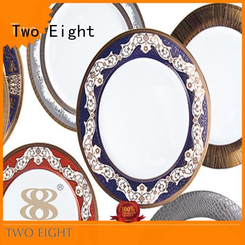 Two Eight Brand princess fine white porcelain dinnerware rim supplier