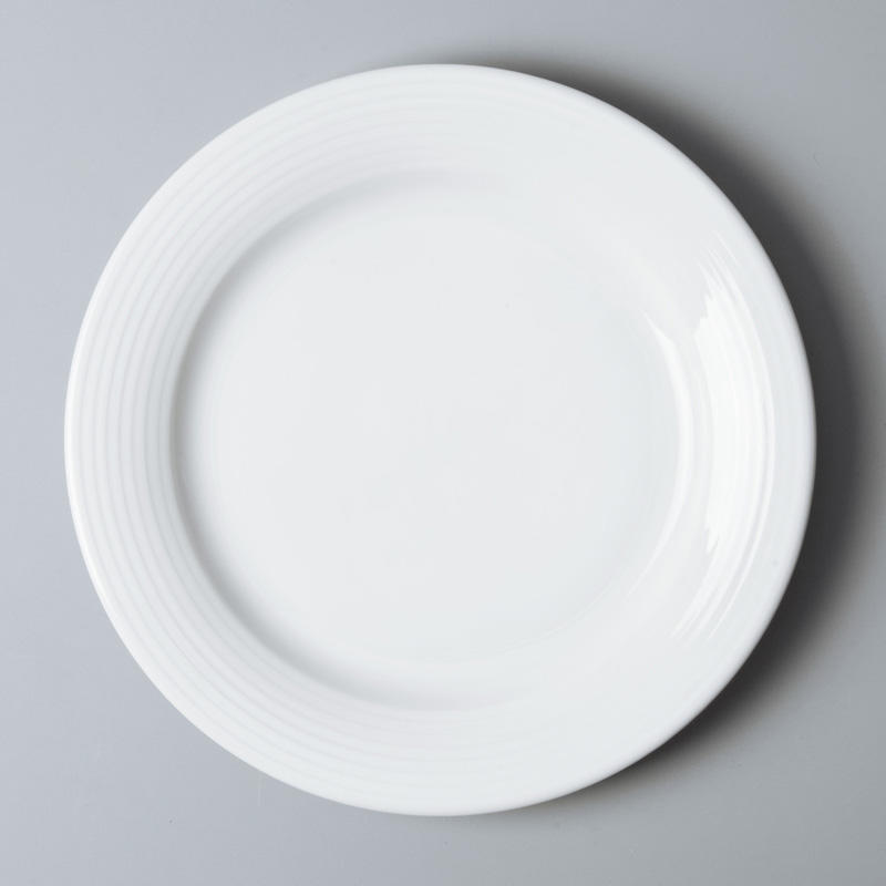 Two Eight round white porcelain dish set directly sale for home-3
