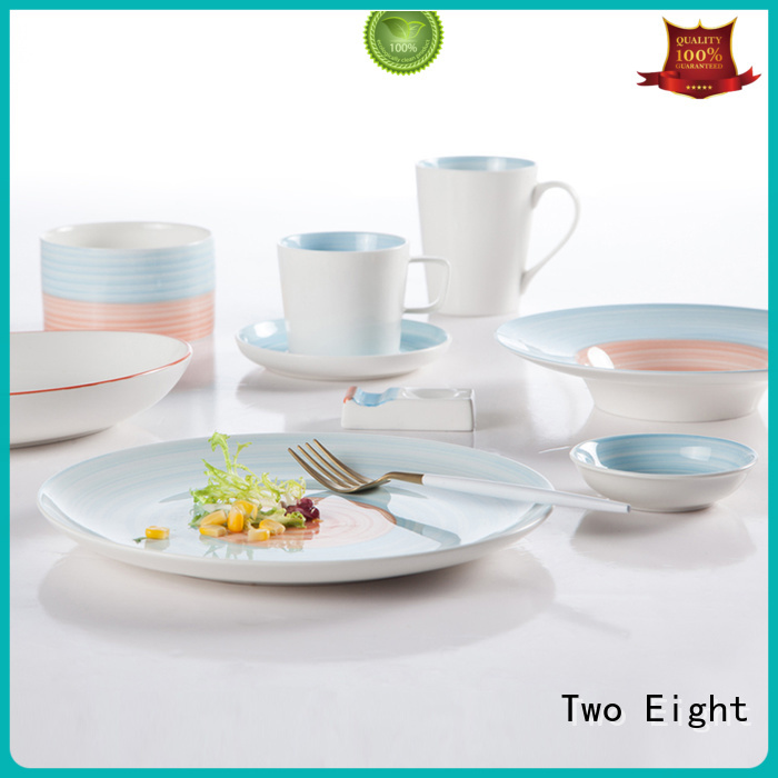 colorful ceramic dinnerware sets white series for kitchen