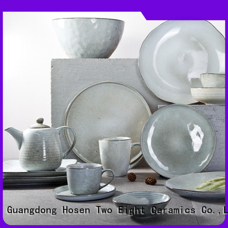Two Eight smoothly 40 piece porcelain dinnerware set oragne for kitchen
