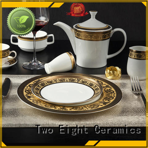 Two Eight embossed fine porcelain china supplier for home