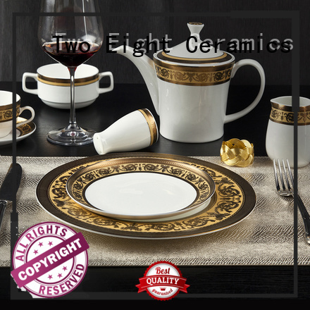 Two Eight New fine porcelain dinnerware sets factory for kitchen