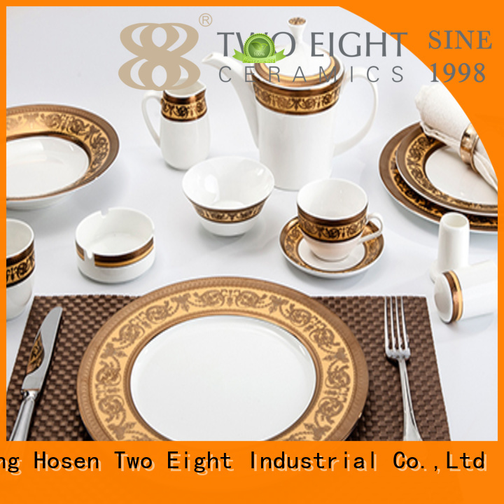 contemporary navy embossed two eight ceramics Two Eight Brand